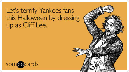 Let's terrify Yankees fans this Halloween by dressing up as Cliff Lee