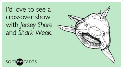 someecards.com - I'd love to see a crossover show with Jersey Shore and Shark Week